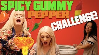 SPICY GUMMY PEPPER CHALLENGE!