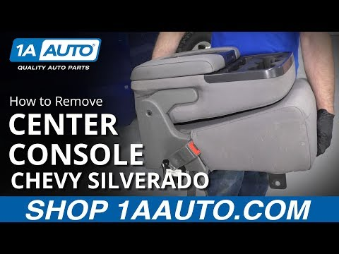 How to Remove Center Console 14-19 Chevy Silverado