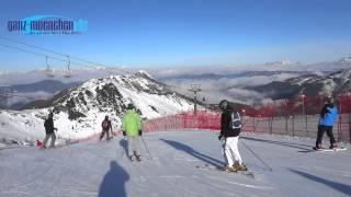 Skigebiet - Skigebiet Zauchensee - Altenmarkt Flachauwinkel: Skifahren bei Traumbedingungen im Januar 2014