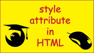 HTML attribute style tutorial ( inline styling vs css )
