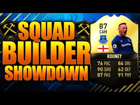 SQUAD BUILDER SHOWDOWN CUP IF ROONEY 87!! FIFA 17 ULTIMATE TEAM