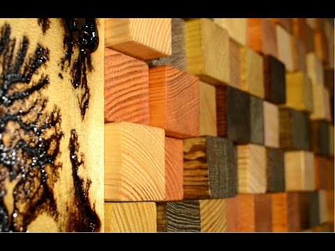 Reclaimed Wood 3d Wall Panel Youtube