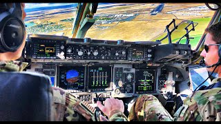 US AIR FORCE C-17 | EPIC Tactical Takeoff, Descent and Landing | Cockpit view
