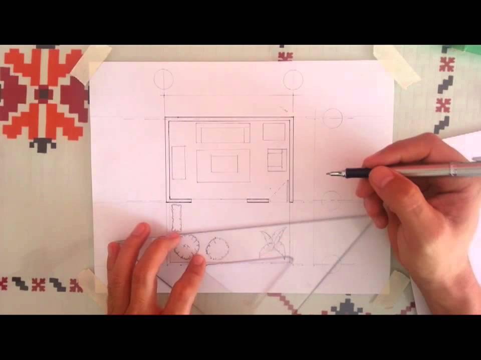 Tutorial dibujo arquitectonico 1 muros youtube for Plano de planta dibujo tecnico