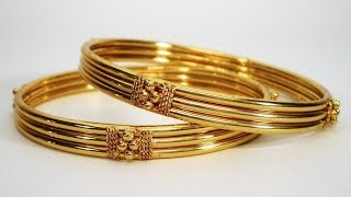 Gold Plain Bangles Designs 2019 | Indian Jewellery Design 2019