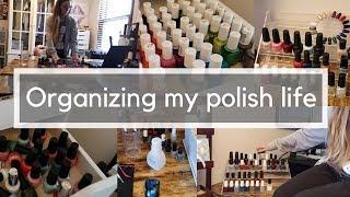 Random Vlog style organizing | Winter Polish Rack