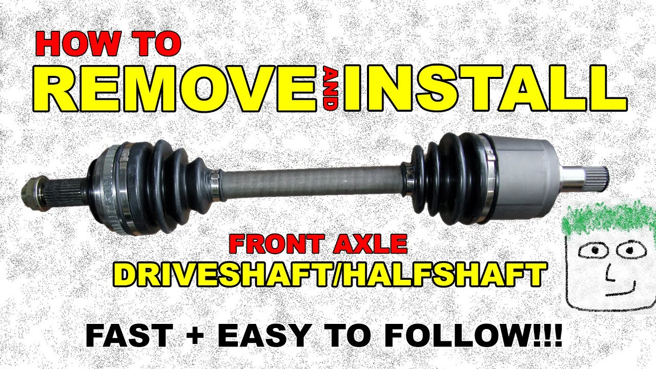 medium resolution of cv front axle remove and install half shaft front wheel drive axle youtube