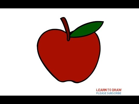 How To Draw A Apple Step By Step Easy For Kids Youtube