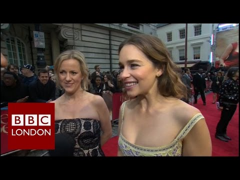 Emilia Clarke and Jojo Moyes - 'Me Before You' London premiere