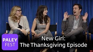 New Girl - Zooey Deschanel and Jake Johnson on the Thanksgiving Episode