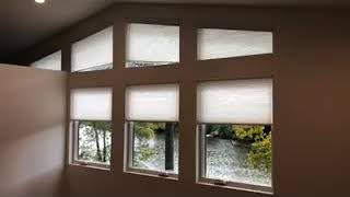 The Power of Motorization: Angle Top Windows with Honeycomb Shades