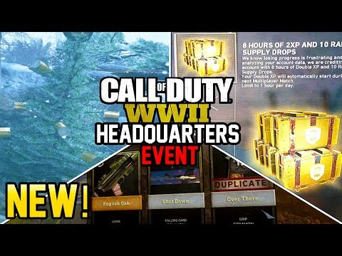 NEW HEADQUARTERS EVENT! SLEGEHAMMER GIVING FREE SUPPLY DROPS! (Call of Duty WW2)
