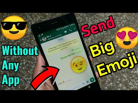 Send Big Emoji Without Any App On WhatsApp || #Tech4X