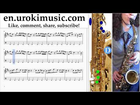 How to Play Saxophone (Tenor) Clean Bandit - Rockabye ft Sean Paul Anne-Marie Tabs Part#2 um-i352