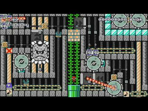 Hop Aboard Adrian's Mothership! by BLG - SUPER MARIO MAKER - NO COMMENTARY