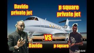 Davido new private jet vs p square private jet (worth, interior and exterior)