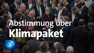 Bundestag stimmt über Klima-Paket ab