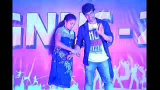 Kung fu kumari and hello hello dance performance by Santosh  (RGUKT Nuzvid)