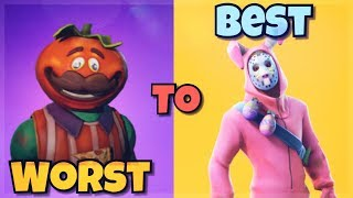 TOP 10 MASKED SKINS IN FORTNITE! (Fortnite Battle Royale) Ranking MASKED SKINS From WORST TO BEST!