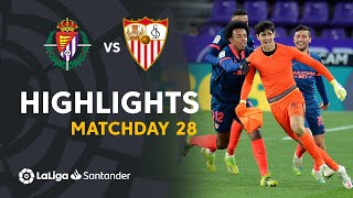 Highlights Real Valladolid vs Sevilla FC (1-1)