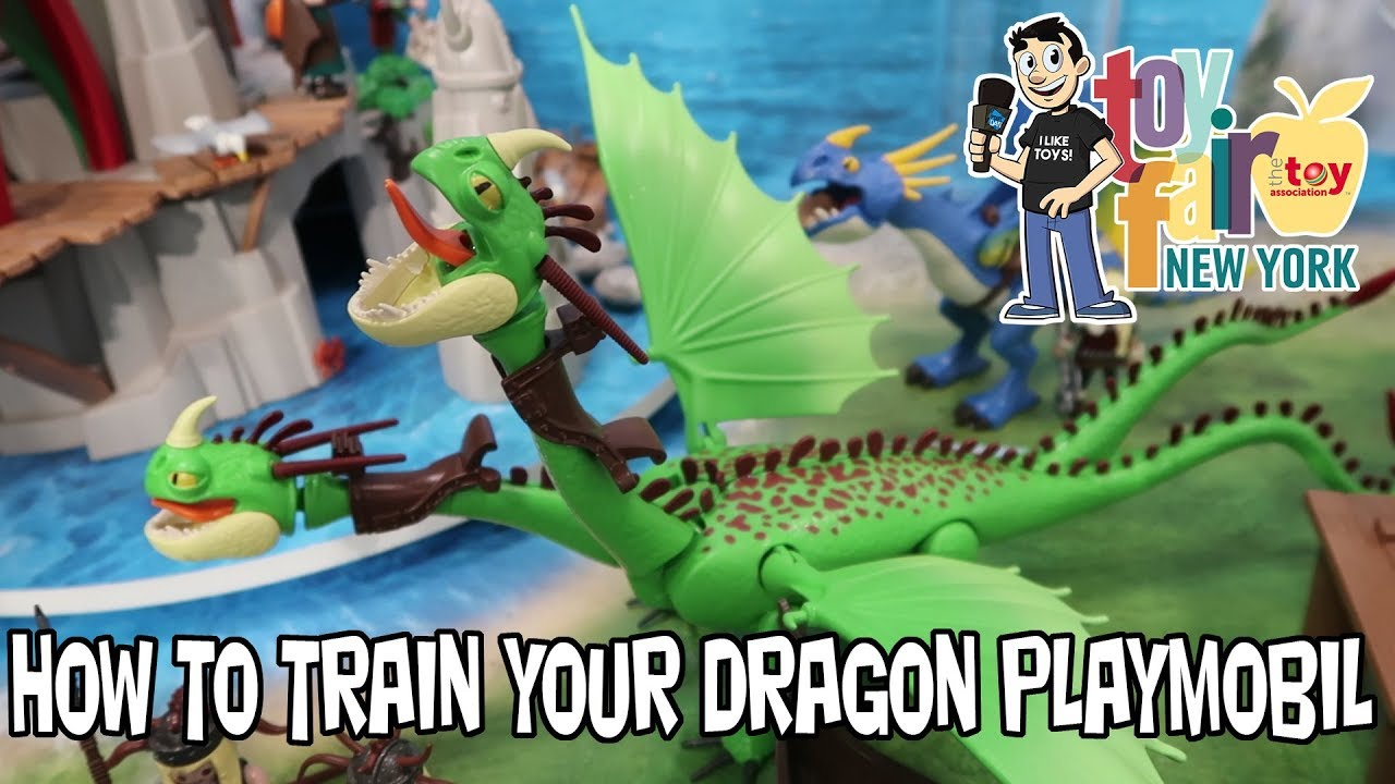 How To Train Your Dragon Playmobil Display At New York Toy Fair 2018