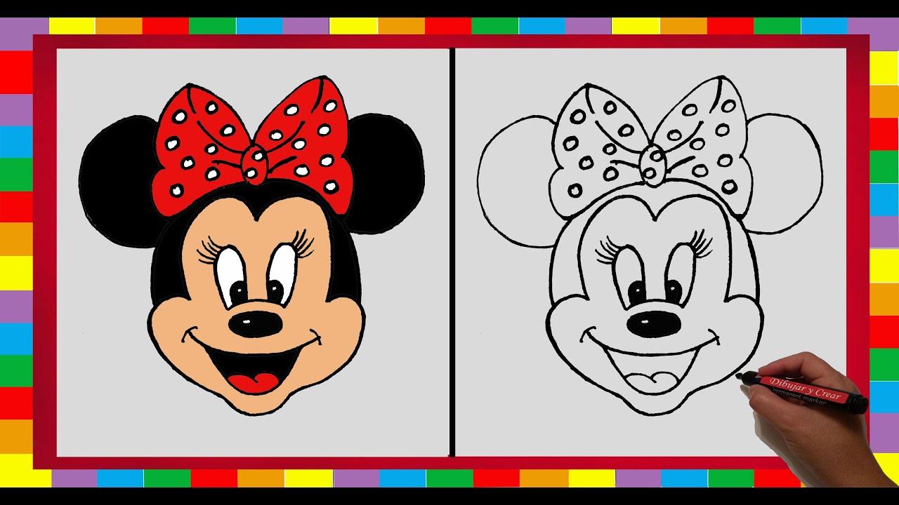 Dibujar paso a paso a Minnie Mouse / How to draw Minnie Mouse (DibujaryCrear) YouTube