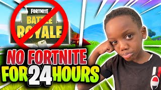 No FORTNITE For 24HOURS!! WIN $$$$$