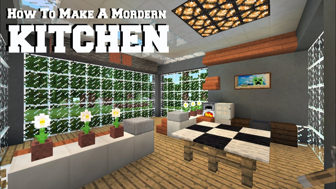 Minecraft Modern Kitchen How To Build A Modern Kitchen Inspired By Magmamusen Minecraft