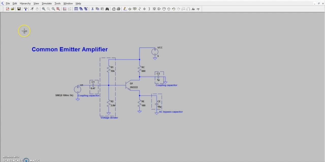 Intro to a common emitter amplifier youtube ccuart Choice Image