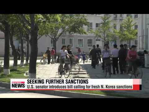 U.S. senator introduces bill calling for fresh N. Korea sanctions   미 상원, 북한 테러지