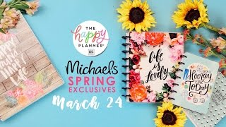 The NEW Happy Planners® // Spring Launch at Michaels Stores!