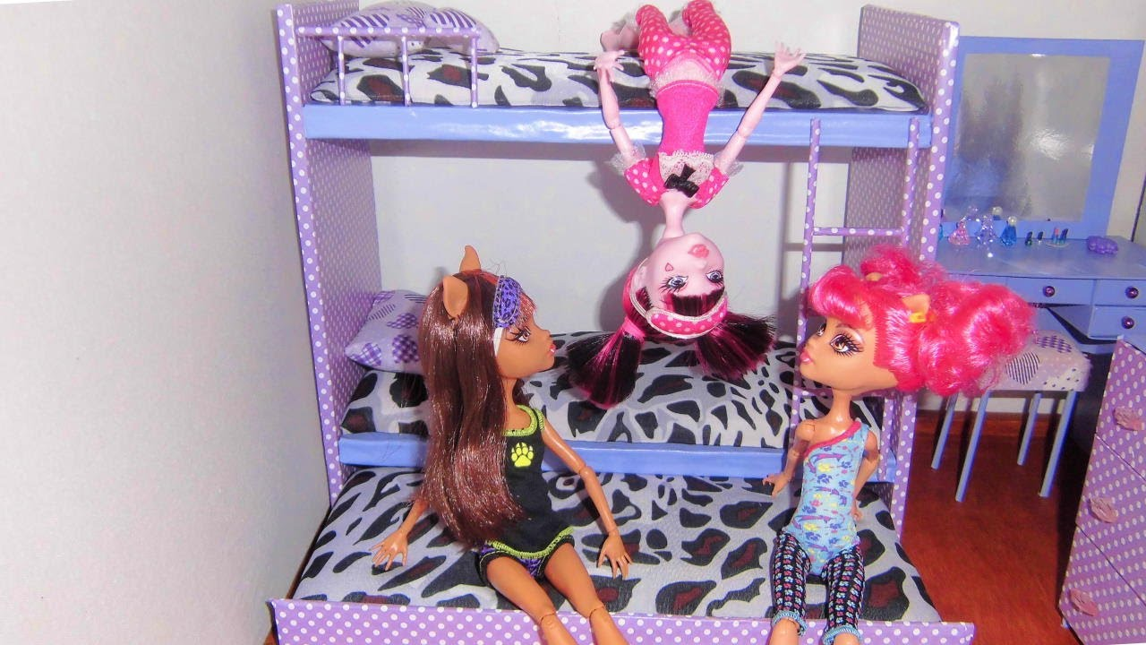 Barbie Bedroom In A Box: How To Make A Bunk Bed For Doll (Monster High, Barbie, Etc