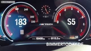 BMW M760Li 2017: Tacho-Video 0-200 km/h