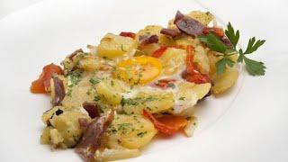 Patatas, pimientos y huevos - Karlos Arguiñano