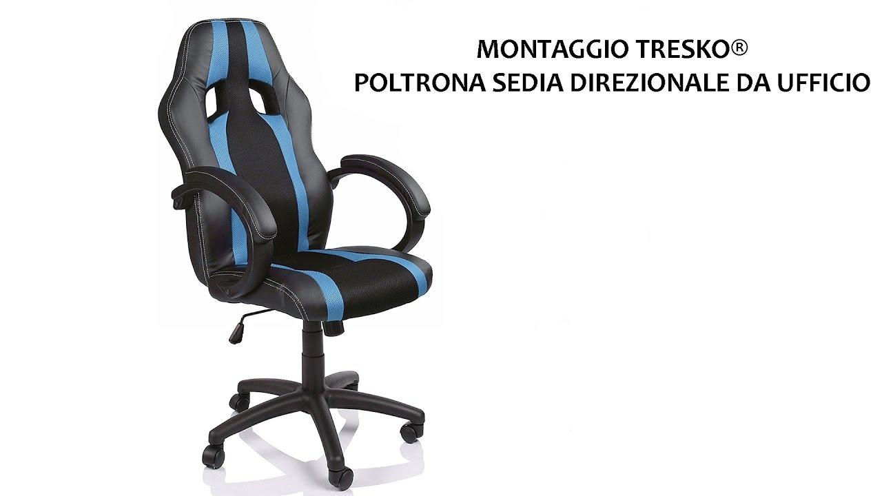 Montaggio sedia da ufficio tresko colore nero azzurro - Rivestire sedia da ufficio ...
