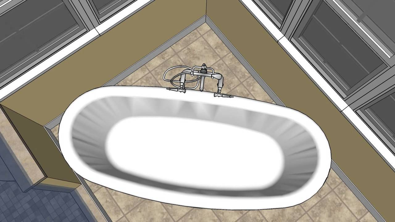 Stanton Bathroom Remodeling CAD Design Option #5   MasterCraft Kitchen _  Bath