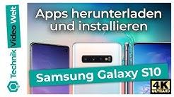 Samsung Galaxy S10 Apps herunterladen und installieren