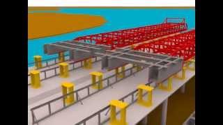 Технология строительства сооружений методом «надвижки» - возведение основных конструкций