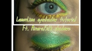 Lemon Lime Eye Shadow Tutorial Ft. MineralSilk Shadows