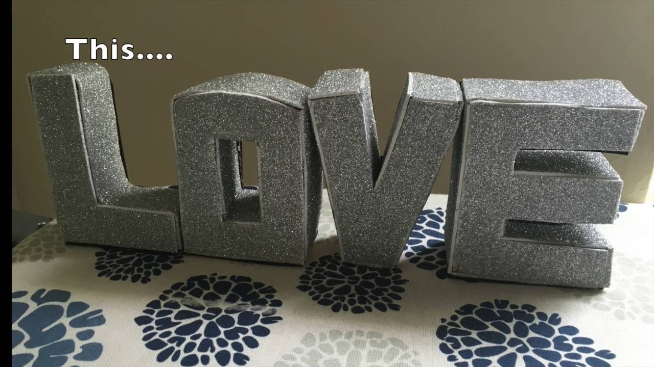 3d Letter Diy.Diy 3d Cardboard Letters Diy Gift To Your Spouse Boyfriend Girlfriend