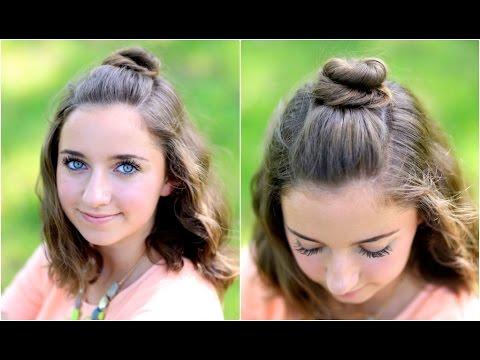 Diy Half Up Bun Easy Hairstyles Youtube