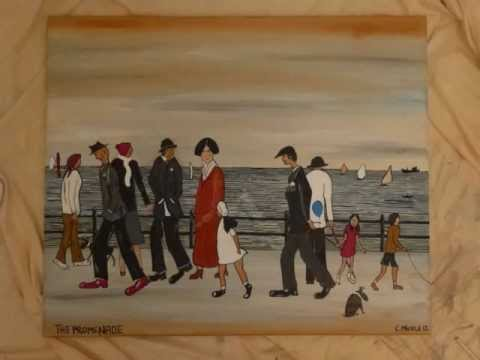 PAINTING. LS Lowry style. A Painting Comes to Life. PERFECT FINE ART DUDE
