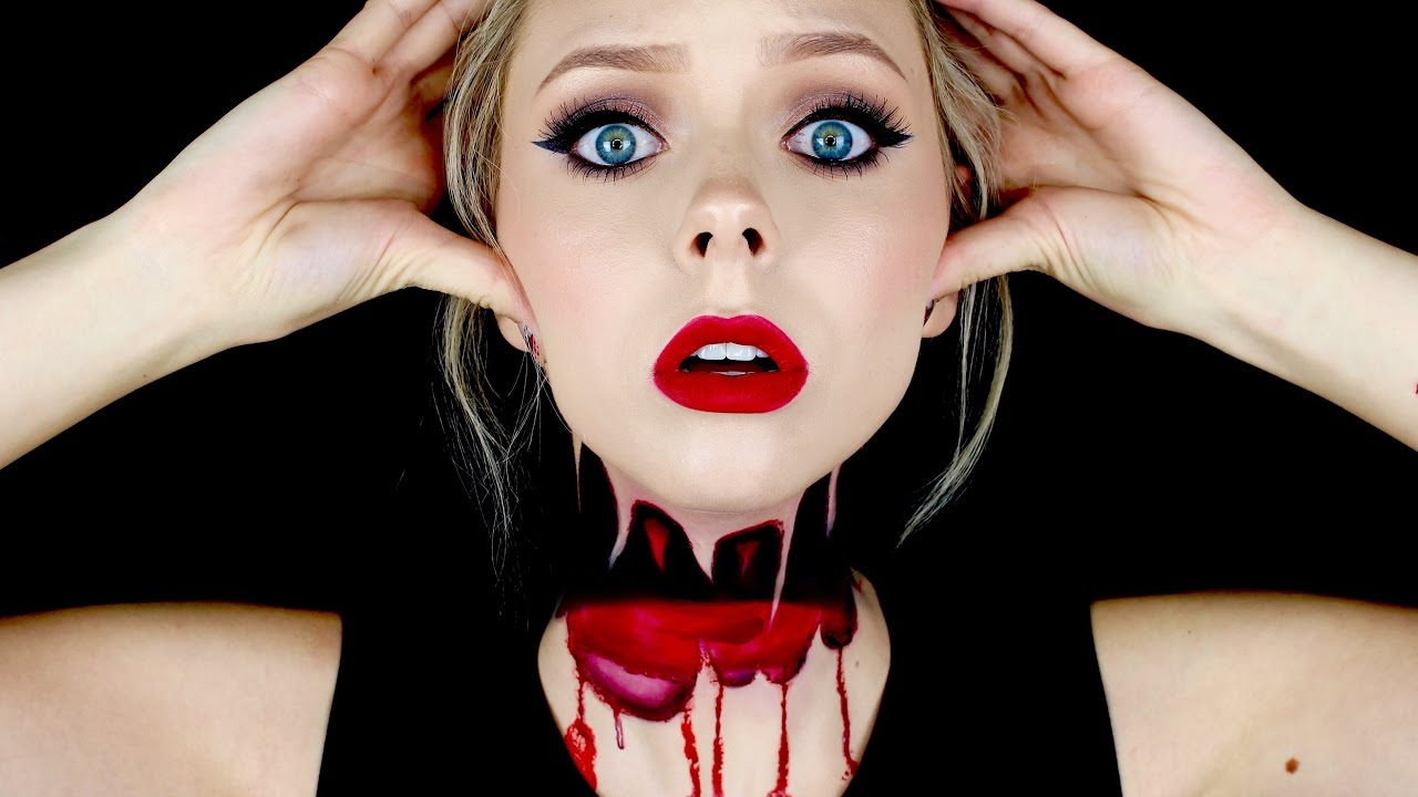 headless halloween makeup tutorial | cosmobyhaley - youtube