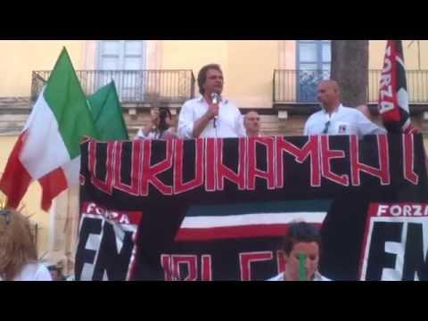 POZZALLO COMIZIO FORZA NUOVA 28/6/2015