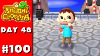 Animal Crossing: New Leaf - Part 100 - Zackscott Shirt (nintendo 3ds Gameplay Walkthrough Day 48)