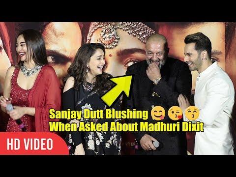 Sanjay Dutt Blushing 😊😋😚 When Asked About Madhuri Dixit | Kalank Cute Moment