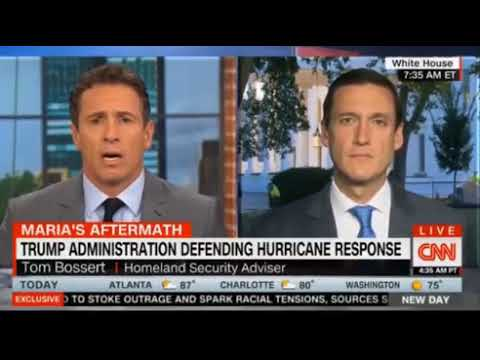 Tom Bossert H/land Sec pushes back as Chris Cuomo attempts to blame Trump for the slow PR progress