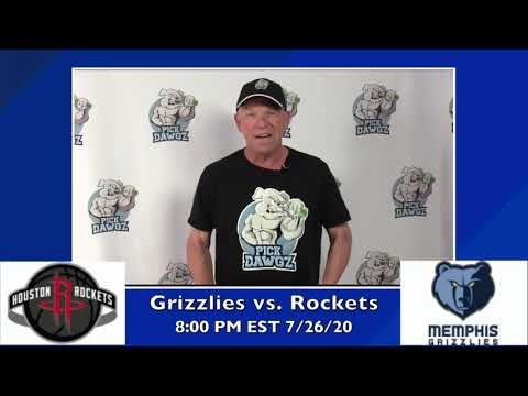 Memphis Grizzlies vs Houston Rockets 7/26/20 Free NBA Pick and Prediction NBA Betting Tips