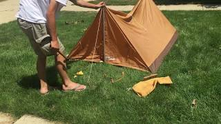 How to Setup a Pup Tent