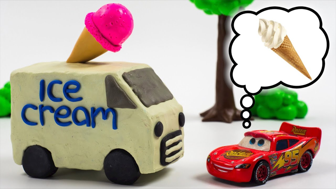Lightning McQueen buys ICE-CREAM Jackson Storm takes it & the Race is on CHALLENGE!